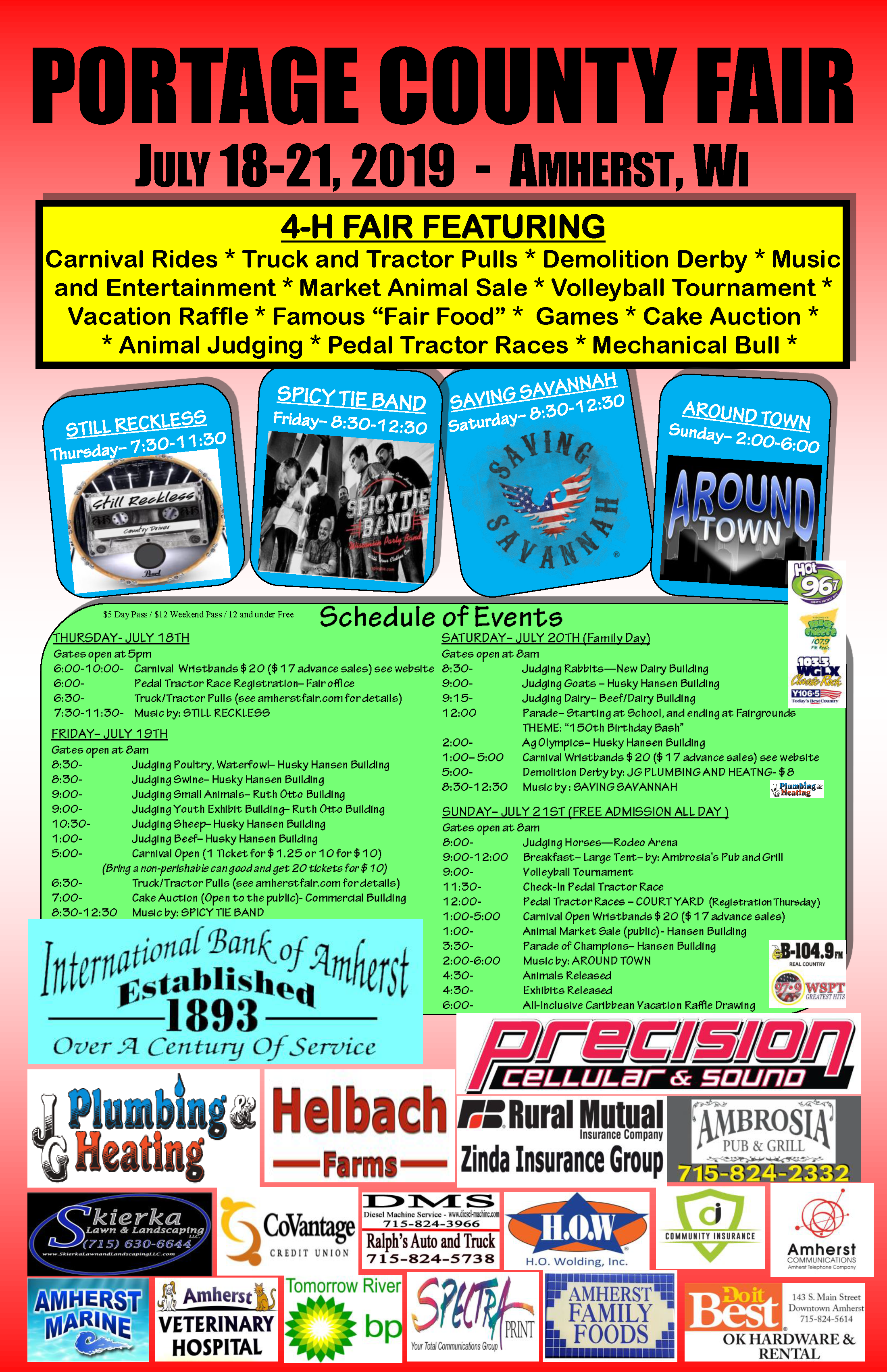 The Portage County Fair of Amherst, WI – Fun for Everyone